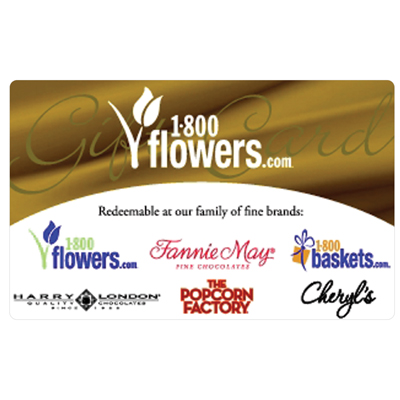 1-800-FLOWERS.COM<sup>&reg;</sup> $25 Gift Card - Order flowers, roses, gift baskets and more.