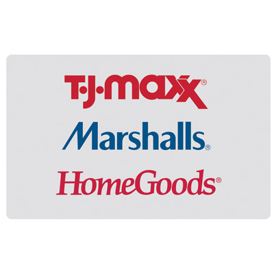 T.J. MAXX<sup>&reg;</sup> $25 Gift Card - There is a shopping spree in your future!  TJX Gift Cards are redeemable at any T.J.Maxx, Marshalls, or HomeGoods location nationwide or online.