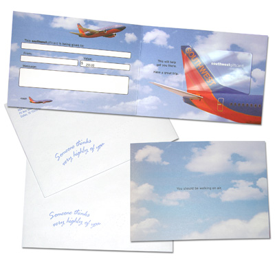 SOUTHWEST AIRLINES<sup>®</sup> $250 Gift Card - It's time to plan that vacation you've been wanting!  With this gift card, you can take $250 off of your next trip on Southwest Airlines.